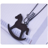 Fashion Korea Style Horse Bowknot Long Pendant Necklace