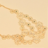 Korea Fashion Romantic Tea Flower Bib Necklace