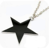 Korea Style Fashion Long Black Star Pendant Necklace