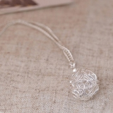 Korea Style Chic Silver Ball Pendant Necklace For Ladies