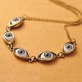 Vintage Punk Multi Demon Eye Bib Necklace