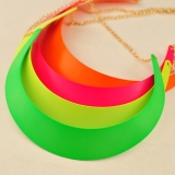 Fluorescence Color Punk Gold Plated Alloy Choker Necklace