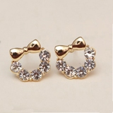 Chic Rhinestone Cute Stud Earrings for Girls