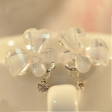 Exquisite Transparent Butterfly Rhinestone Stud Earring