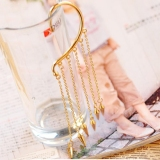 Punk Style Fashion Rivet Tassel Leverback Earring