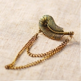 Punk Style Feather Tassel Stud Earring For Women