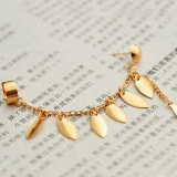 European Style Fashion Tassel Clip Drop Earring