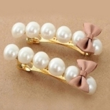 Vintage Exquisite Pearl Butterfly Knot Hair Clips