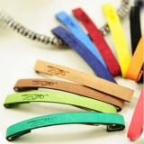 Suede Cute Letter Personalized Candy Hair Clips