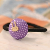 Vintage Lovely Rabbit Dot Ponytail Holder