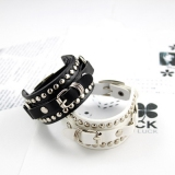 Cool Korean  Fashion Rivet Leather Bracelet
