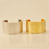 European Style Simple Golden/Silver Cuff Bracelet