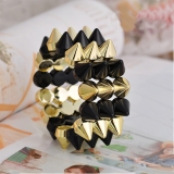 Punk Style Three layers Rivet Bangle Bracelet