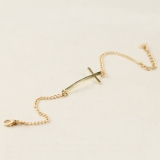 Exquisite Cross Gold Plated Alloy Link Bracelet