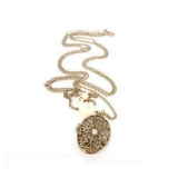 Vintage Locket Long Chain Necklace