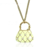 Chic Lady's Handbag Pendant Chain Necklace