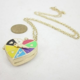 Fashion Multicolor Heart Locket Necklace
