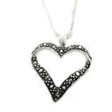 Fashion Black Heart Chain Necklace