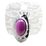 3 Size Purple Green Natural Stone Cocktail Ring