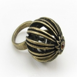 Unique Antique Bird Cage Band Ring