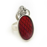 Vintage Large Red Rhinestone Cocktail Ring