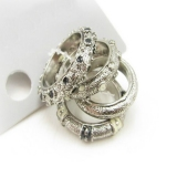 Fashion 4pcs Band Ring Set