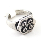 Punk Fashion Silver Screw Rings