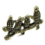 Vintage Little Bird Double Rings