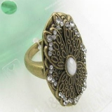 Vintage Gunmetal Alloy Antique Ring