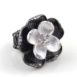 Fashion Diamond Elastic Flower Ring