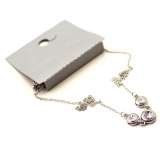 Fahionable Rhinestone Silver Chain Necklace