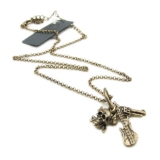 Vintage Gun Key Skull Personalized Chain Necklace