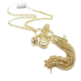 Fashion Rhinestone Golden Pendant Chain Necklaces