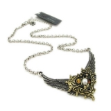 Vintage wings Heart-shaped Pendant Chain Necklaces