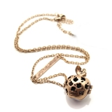 Elegant White Hollowed Out Apple Pendant Chain Necklaces