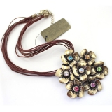 Vintage Seven Flowers Pendant Bib Necklaces