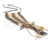 Sexy Long Tassle Bib Necklace