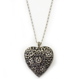 Vintage Hollowed Heart Shape Chain Necklace