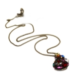 Vintage Multicolor Heart Locket Necklace