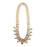 Exaggerated Personalized Triangle Alloy Bib Necklace