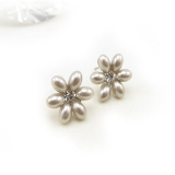 Elegant Flower Pearls Stud Earrings