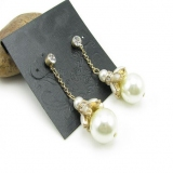 Elegant Pearl Dangle Changerlier Earrings