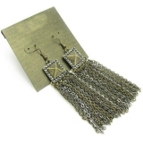 Vintage Tassel Bronze Chains Drop Earrings