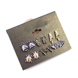 Vintage Insect Stud Earrings with 6 Styles