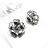 Simple Silver Flower Stud Earrings