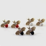 Fashion Lovely Golden Insect Stud Earring