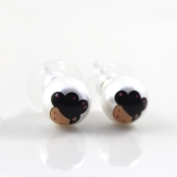 Lovely Harajuku Pearl Doll Head Stud Earring
