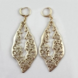 Vintage Golden Hollow-out Decorative Pattern Hoop Earrings