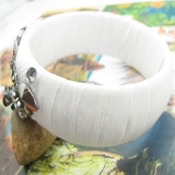 Fashion Simple Ribbon Flower Bangle Bracelets