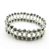 Fashion Black Link Bracelets With Rhinestone